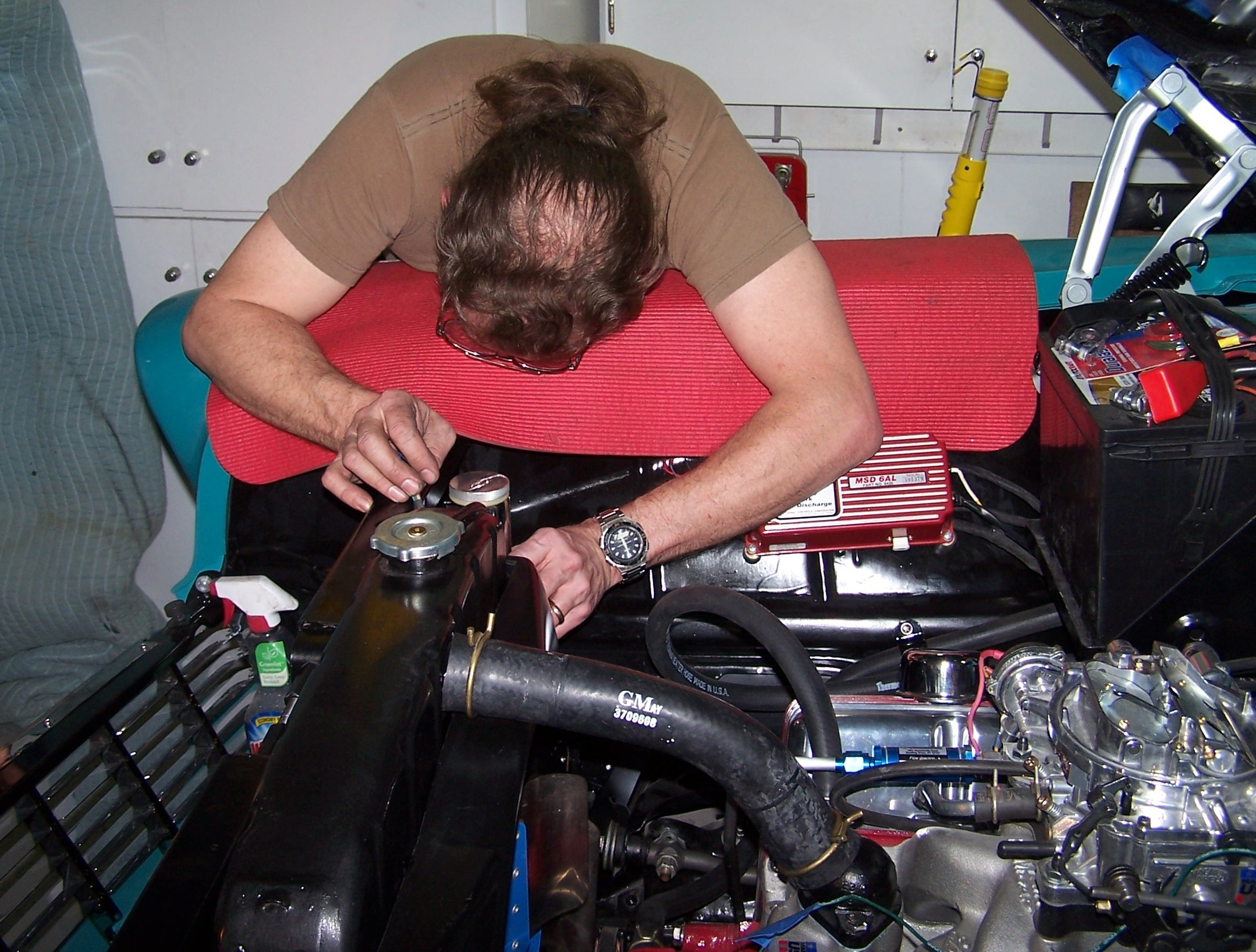 Wagon Wiring Harness And Front Fenders Muscle Car Time To Install The Radiator Overflow Tube Required By Most Drag Strips